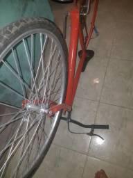 Quadro De Bicicleta Com garfo, guidão, pé de vela,coroa e corrente