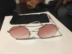 Óculos escuros rosa degradê