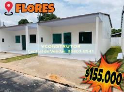 Casas 2 Qts/ flores próx Max Teixeira