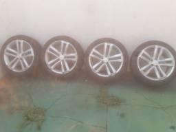 Roda aro 20 c/ pneus toyo S-10/amarok (furação 5)