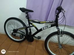 Bicicleta aro 26 Caloi Andes 21 Marchas Vmax cubo roletado Amortecedor perfeita