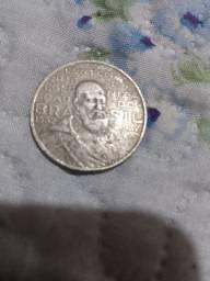 Moeda antiga 2000 réis, em prata 1000