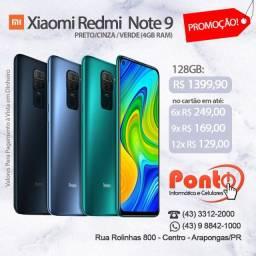 Xiaomi Redmi Note 9 128GB 4GB Ram Novo