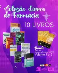 Coleção Livros de Farmácia + (Brinde) Atlas Anatomia Netter Volume 1 e 2
