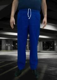 Calça de uniforme brim azul royal