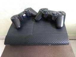 Playstation 3 (PS3) + 2 controles + 22 jogos