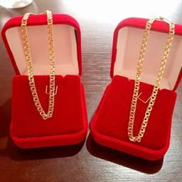 Pulseiras de prata banhada a ouro