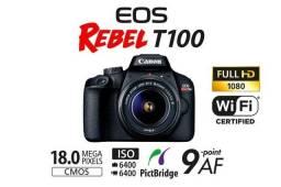 Câmera Canon T100 + Cartão de memória de 32GB + Bolsa + Tripé