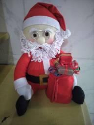 Papai Noel em tecido e feutro