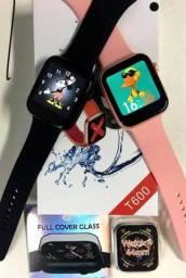 Smartwatch Iwo 12 T600 Lançamento 2020 Faz ligações, notificações, bluetooth + Brinde!!