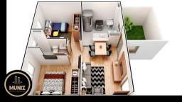 RS Aqui Seu Sonho Vira Realidade, Apartamento 1 e 2 Quartos, Piscina menor preço !