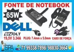Carregador Dell 19.5v 3.34a 65w 7.4mm x 5.0mm em Salvador Ba
