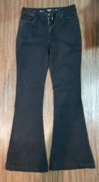 Calça  jeans preta tam 44