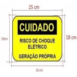 Placas de Sinalização para Geração de Energia Solar - R$ 25