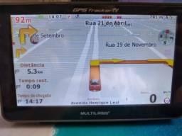""".GPS Tracker 2 - 5"""""""" - c/ TV + FM e Leitor E-Book - GP014 - Mapa Igo Amigo 2020"""
