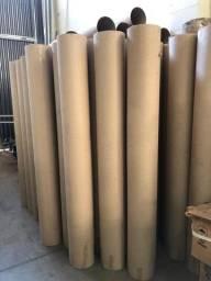 Tubos de papelão  lote c/ aprox. 140 tubos