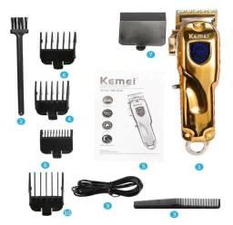 Máquina De Corte Kemei Km-2010 Bivolt Gold
