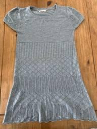 H&M vestido lã PP