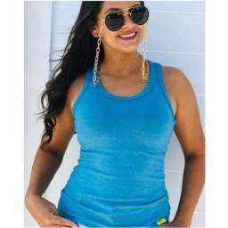 Blusa Feminina Nadador Regata Suede Summer Moda Inverno Outono