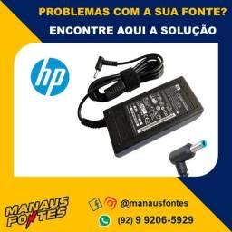 Fonte Carregador Notebook HP 19.5V Ponta Azul! Informações no WhatsApp.