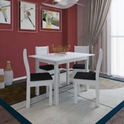 Chame agora e receba rápido!! Mesa de Jantar com 4 cadeiras Gaya