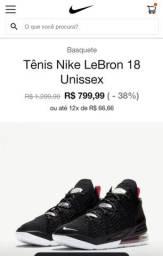 Título do anúncio: Nike LEBRON XVIII 44