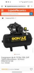 Título do anúncio: Compressor de Ar Schulz 140lbf 220v