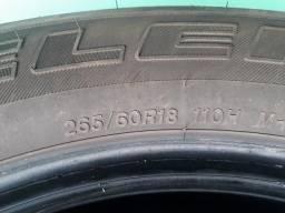V/T pneus brigGestone 265 60/18 2 semi novos e 4 usados zap *