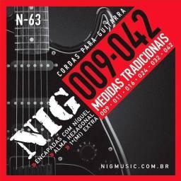 Cordas guitarra NIG 009 ou 010