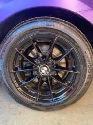 Título do anúncio: Vendo rodas da Bmw  aro 16 205/55 com pneus RUN FLAT Original BMW118I