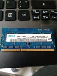 Memória nota DDR3 2GB