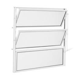 Basculante de Alumínio Canelado 60x80 cm Branco - Aluvid <