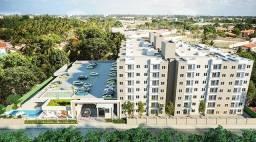 APT 028, Pop Eusébio, apartamento com 02 quartos, 02 banheiros, elevador