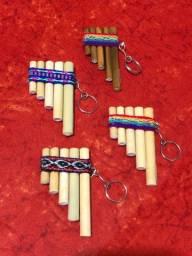 Flauta Peruana Pequena em Chaveiro