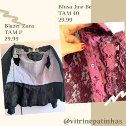 Blazers blusas e vestidos