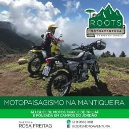 Aluguel de moto trail e de trilha com pousada em Campos do Jordão DRZ400 KLX250 CRF230
