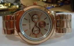 efdff1f437e Relógio Rosê M K   Mryes   Fimweis Série Ouro Rosê Pulseira Série Ouro Rosê