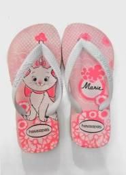 Chinelo Havaianas Infantil Marie Cute Novo