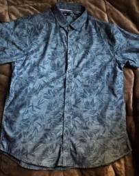 Camiseta social masculina manga curta