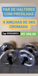 Usado, Halteres, anilhas cromadas comprar usado  Fortaleza