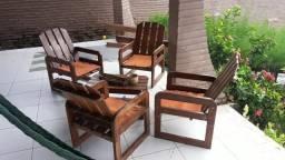 Mesas, cadeiras e bancos rústicos comprar usado  Pecém, São Gonçalo do Amarante