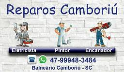 Reparos Camboriú - Serviço de Eletricista, Pintor, Encanador e Marido de Aluguel