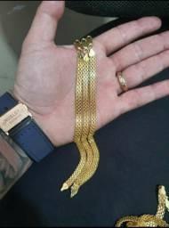 Pulseira em prata banhada à ouro