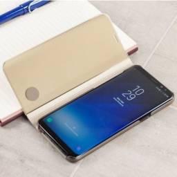 Capa de suporte oficial para Samsung Galaxy S8 Plus - dourada
