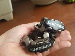 Pedal Shimano m520 preto - com tacos Shimano