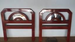 Cama solteiro mogno/espelho