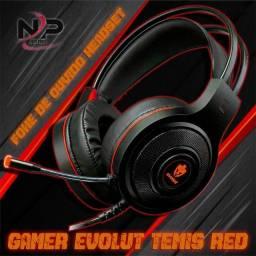 Headset Gamer Evolut Têmis Eg-301 Vermelho