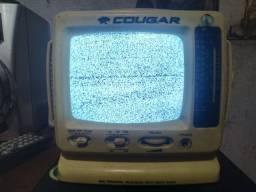 Mini TV e rádio portátil