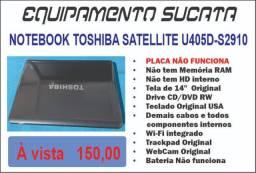 Notebook Toschiba Satellite - Sucata