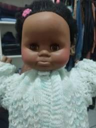 Boneca bebê negra antiga